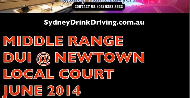 DUI Lawyers Newtown Court Sydney
